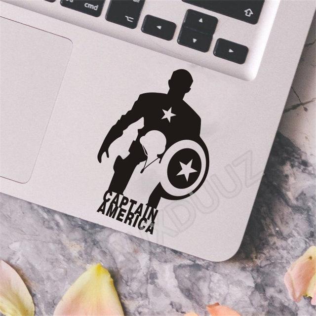 Autocollant mural vinyle de 2 pièces Avengers   Autocollant de réfrigérateur, Iron Man Captain America, autocollant mural de voiture pour décor artistique et interrupteur