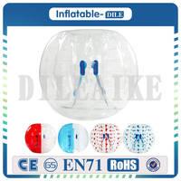 Бесплатная доставка Диаметр 1.2 м надувной мяч бампера пузырь Футбол мяч 0.8 мм ПВХ прозрачный Материал zorb для детей