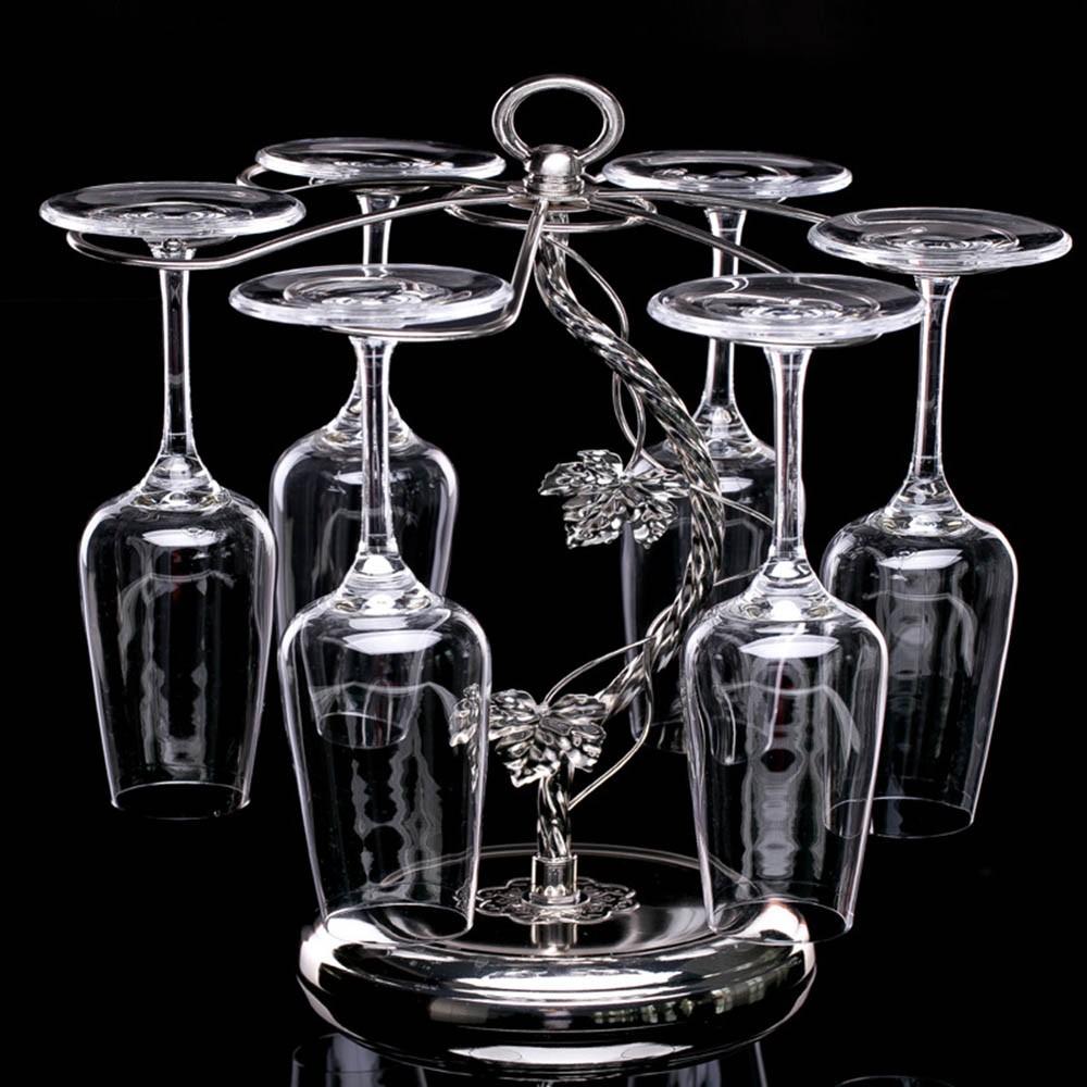 Fashion Decorative Metal Modern Hanging Wine Glass Racks Wine Cabinet Wedding Decor Gift Wine Glass Holder Wine Accessories KC1284 (1)