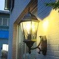 Ретро Европейская наружная настенная лампа наружная водонепроницаемая лампа для балкона настенный светильник бронзовая дверная лампа для...