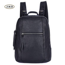 J.M.D New arrivals New design Genuine Leather Unisex Fashion Causal simple design Schoolbag Backpack Travel Bag Rucksack 2012A цена 2017