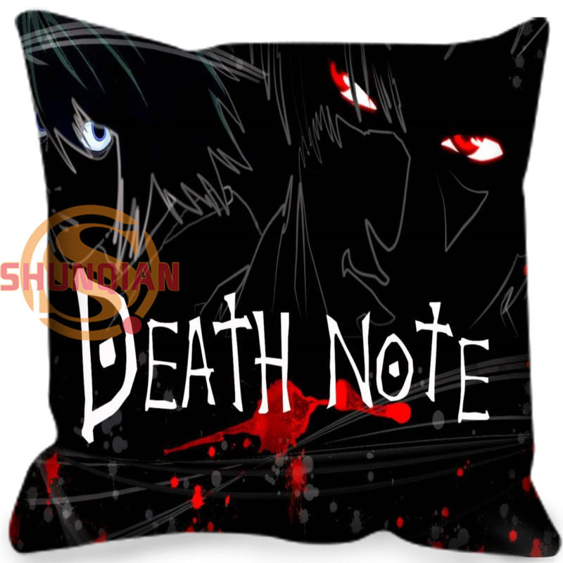 Best Nice Death note Style throw Pillowcase Square Zippered Pillow Cover Custom Gift H@0209-101