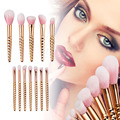 Professional 12Pcs Rose Golden Makeup Brush-Face Powder Contour Highlighter Liquid Foundation Concealer Eyeshadow Eyebrow Brush