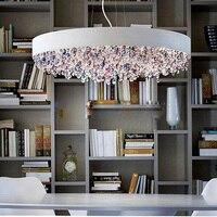 Large Colorful Salon Club LED Crystal Chandelier Wedding Crystal Lamps Modern Dining Room Crystal Hanging Lighting