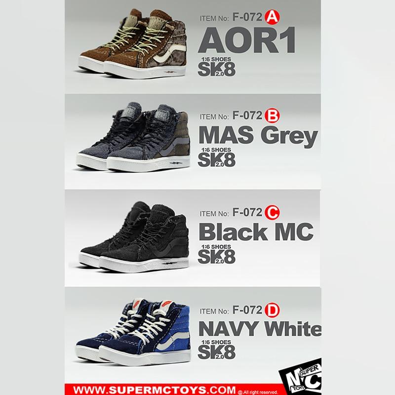 SuperMCToys 1/6 echelle accessoires SK8 chaussures 2.0 skateboard baskets chaussures loisirs bricolage A/B/C/D F-072 Fit 12 pouces Hottoys Figure