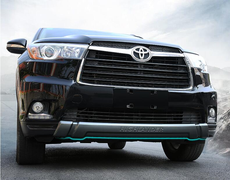 Jioyng ABS фронт + заднего бампера Диффузор протектор гвардии защитные пластины для Toyota Highlander 2015 2016 2017 2018