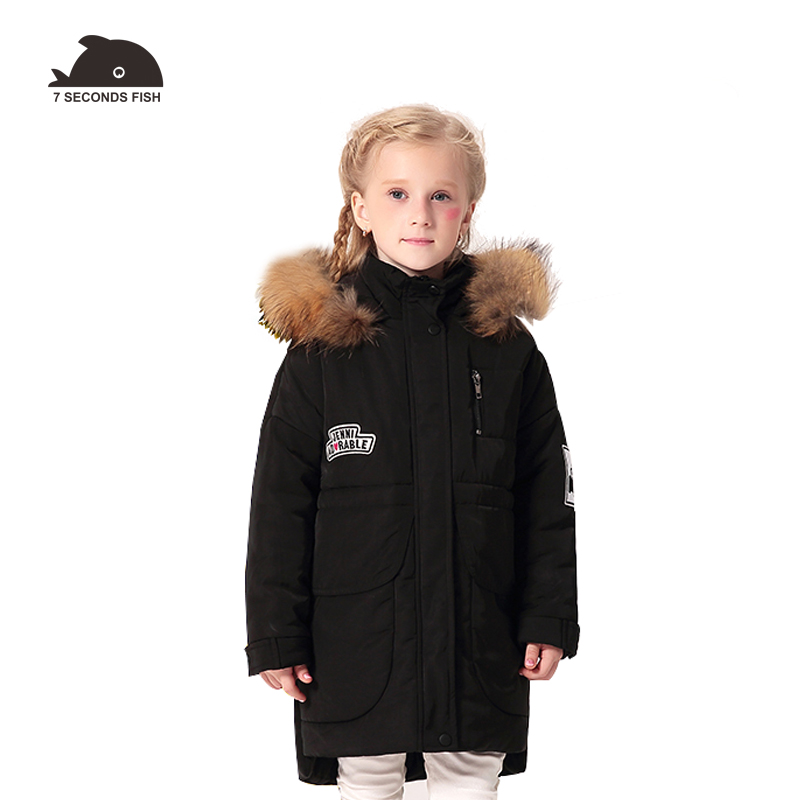 Children's Winter Jacket Warm Hoodies Coat For Girls New Design 2018 Fashion Casual Cotton Padded Outwear Parka Kid Clothes new 2017 men winter black jacket parka warm coat with hood mens cotton padded jackets coats jaqueta masculina plus size nswt015