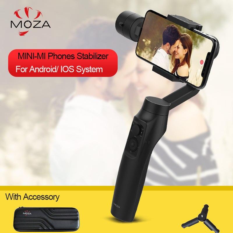 En Stock Moza MINI MI 3-Axes De Poche Cardan Stabilisateur Sans Fil De Charge 360 degrés Rubrique Cardan Pour iPhone X 8 Plus 8 7 6 s