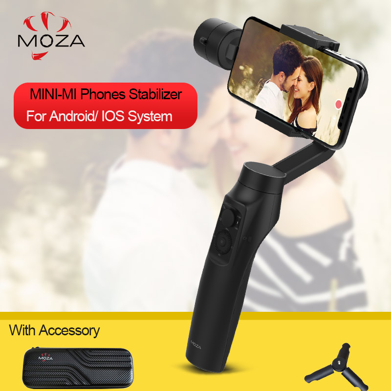 In Stock Moza MINI MI 3-Axis Handheld Gimbal Stabilizer Wireless Charging 360degree Heading Gimbal For iPhone X 8Plus 8 7 6S