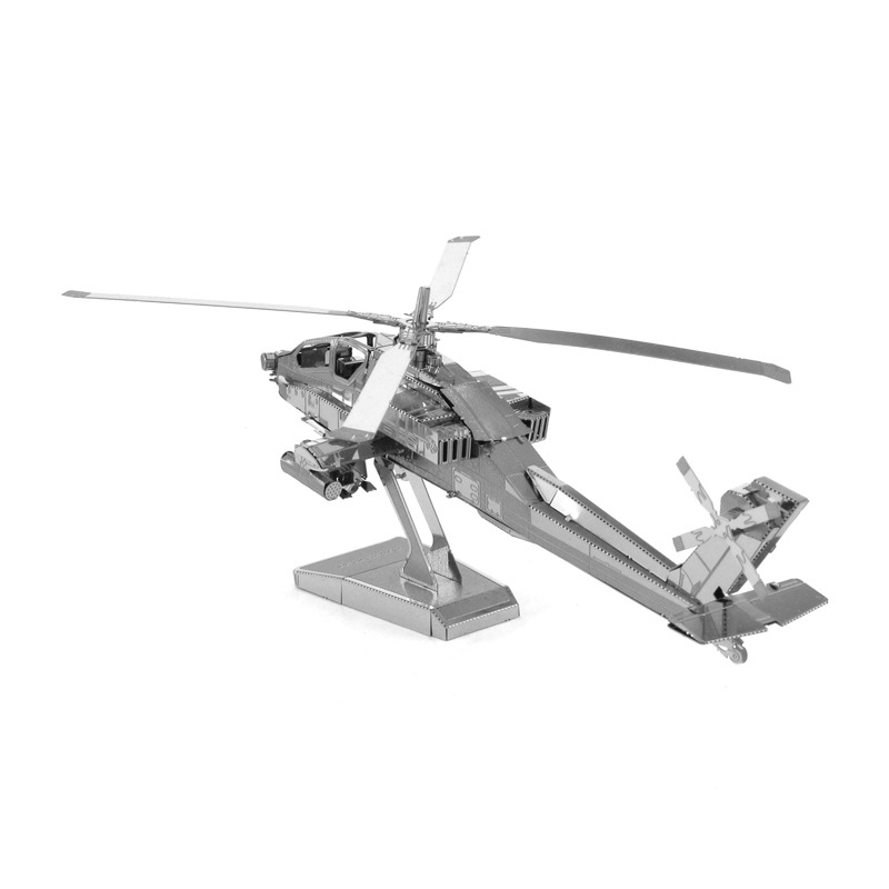 Funny Airplane Silver 3D Puzzle Helicopter Fighter Apollo Space Shuttle Mars Rover Aviation Model Adult Kid Educational Toy