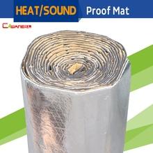 Cawanerl 2sqm Coche Firewall Techo Puerta Protector de Calor Estera de la Prueba de Papel De Aluminio de Aislamiento de Ruido de Sonido Deadener 200 CM x 100 CM