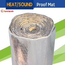 Cawanerl 2sqm Car Firewall Roof Door Heat Shield Sound Noise Insulation Proof Mat Aluminum Foil Deadener Deadening 200CM X 100CM