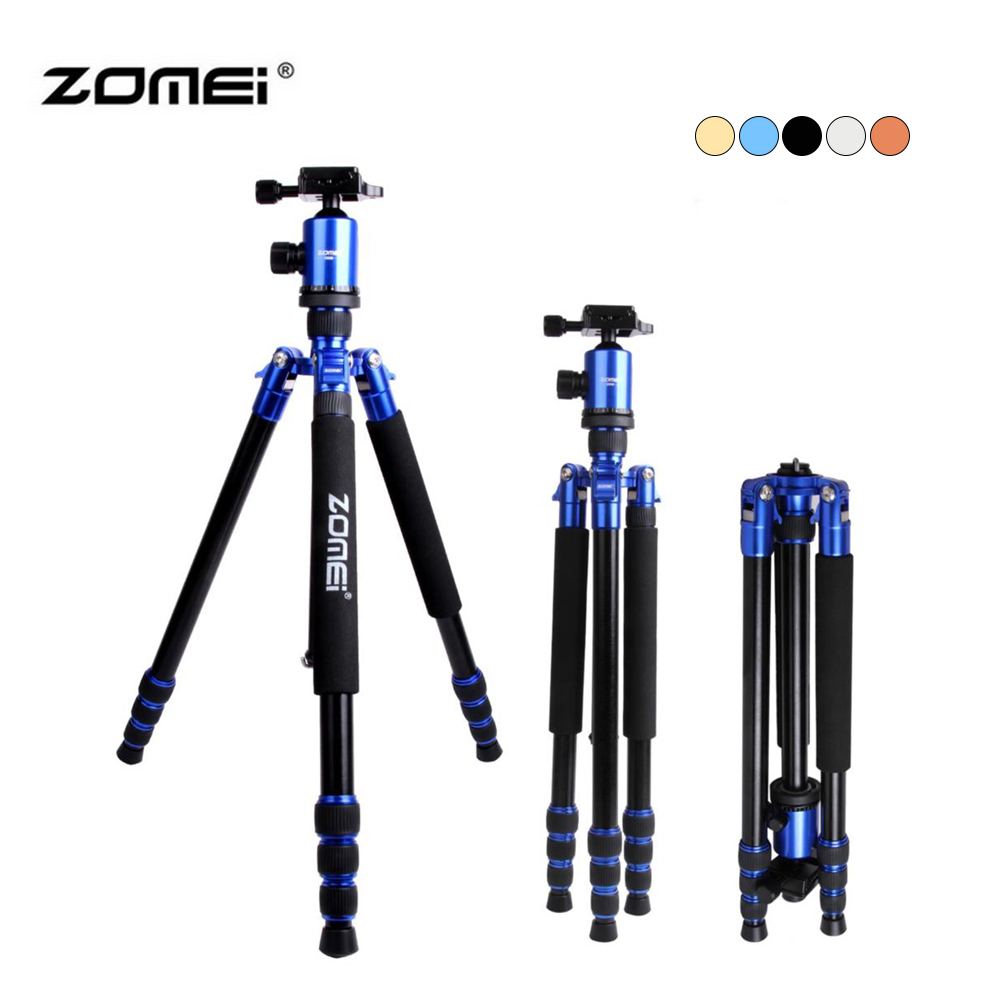 Zomei Z888 Portable Stable Magnesium Alloy Digital Camera Tripod Monopod Ball Head For Digital SLR DSLR Camera zomei q666 professional magnesium alloy digital camera traveling tripod monopod for digital slr dslr camera