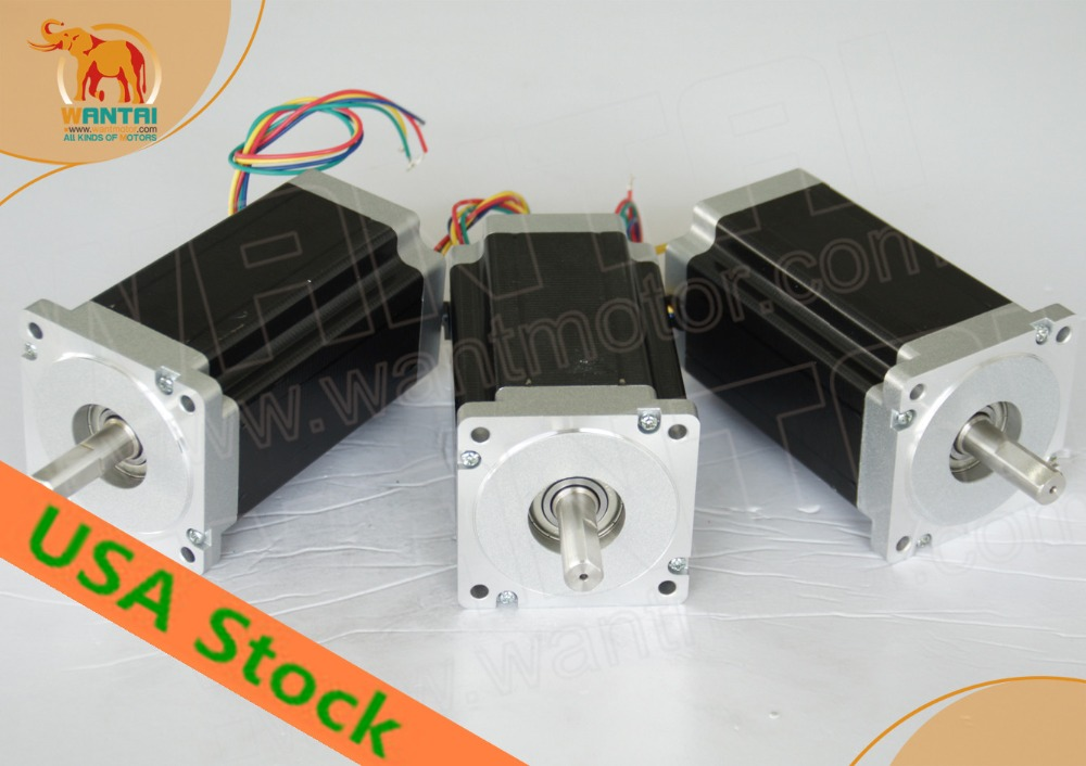 Ship From USA! Wantai 3PCS Nema23 Stepper Motor 57BYGH115-003B Dual Shaft 425oz-in 115mm 3A CE ROHS ISO CNC Router Kit 3040