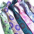 RBOCOTT hombres Paisley Tie Moda Corbata Para Hombre Traje Formal 8 cm Wedding Party Negocios Dot Patrón Corbatas