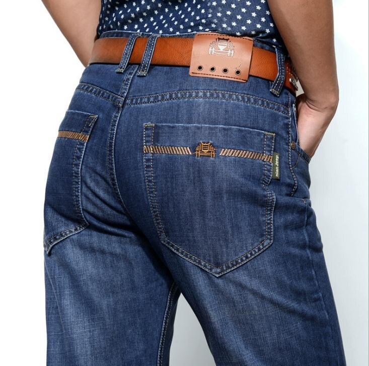 New 2017 mens Jeans Men Pants Blue straight Cotton Male Denim Brand Jeans Leisure jeans