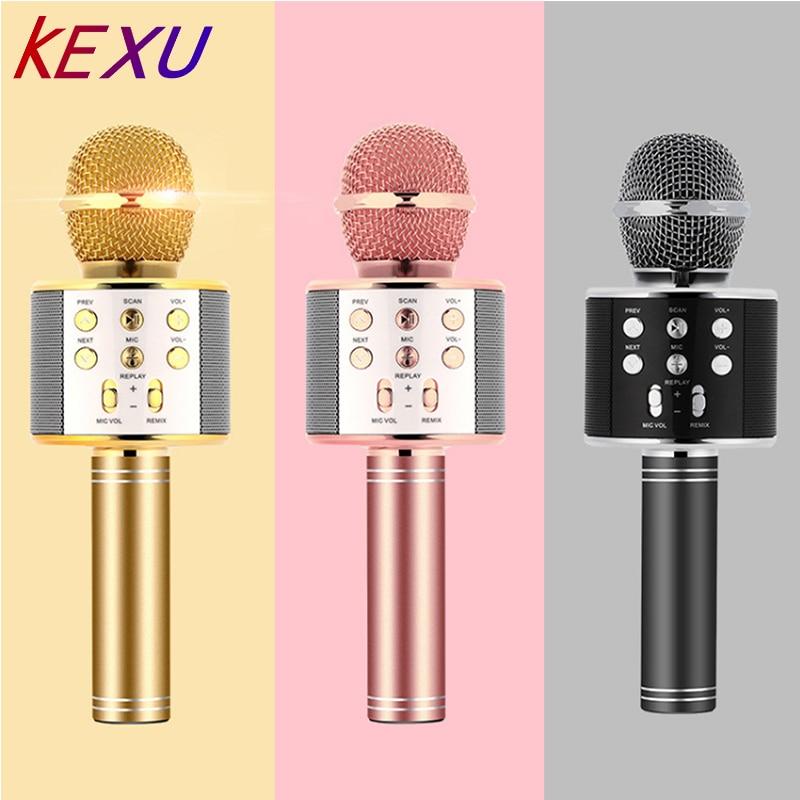 KEXU WS858 Professional Wireless Microphone Condenser Karaoke Mic Bluetooth Radio Mikrofon Mikrafon Studio Recording Studio Mic