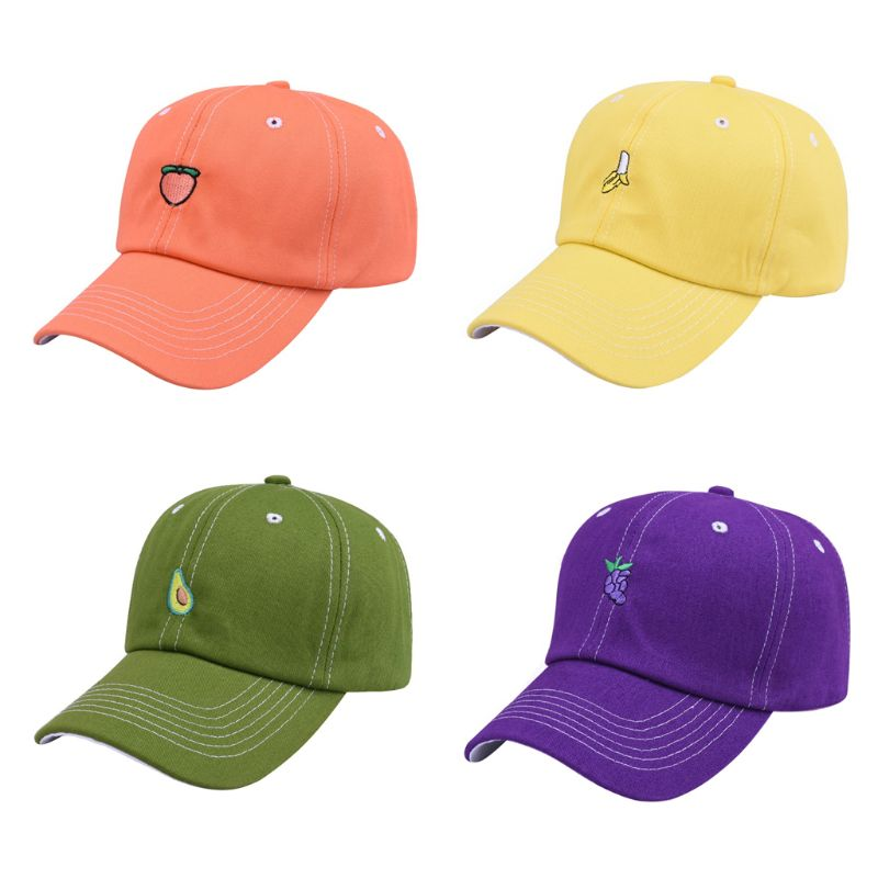 Unisex Leisure Fresh Fruit Embroidery Hat Banana Avocado Grape Orange Peach   Baseball     Cap   snapback trucker hat dad streetwear