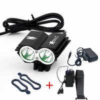 Livraison gratuite 5000 Lumens 2x XM-L U2 LED vélo vélo lumière phare + 8.4 V batterie boîte