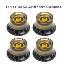 4pcs Black Gold Guitar Knobs Speed Control Volume Tone For Guitar Guitarra Replacement Electric Guitar Bass Accessories(China)