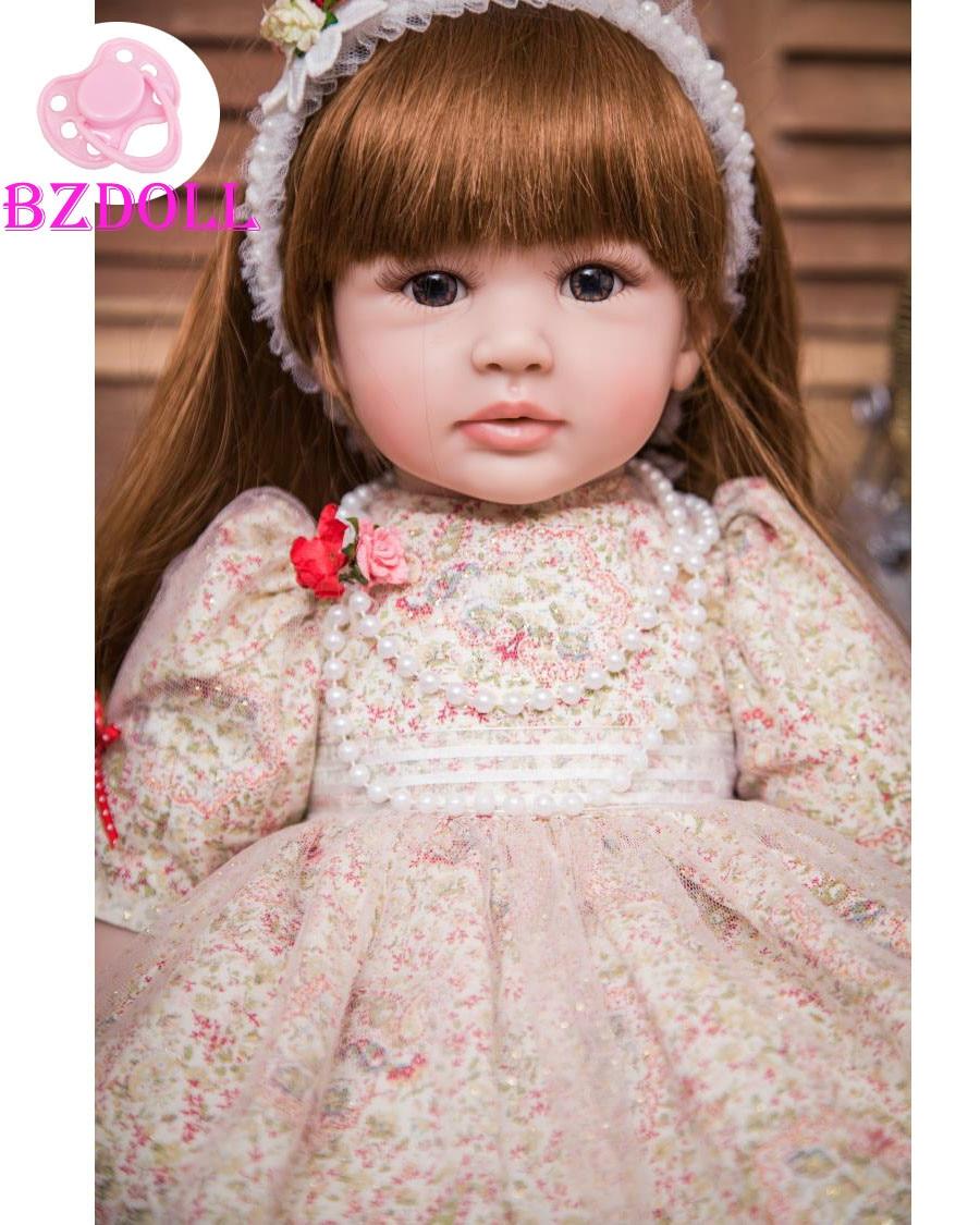 Oyuncaklar ve Hobi Ürünleri'ten Bebekler'de 60 cm Silikon Vinil Yeniden Doğmuş Bebek Bebek 24 inç Prenses Yürümeye Başlayan Canlı Bebe Referans Bebek doğum günü hediyesi Için Mevcut Çocuk Kız boneca'da  Grup 1