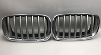RQXR Front Bumper Grill Grille for BMW X5 E70 X6 E71 E72 2007 2013 , with Racing grills