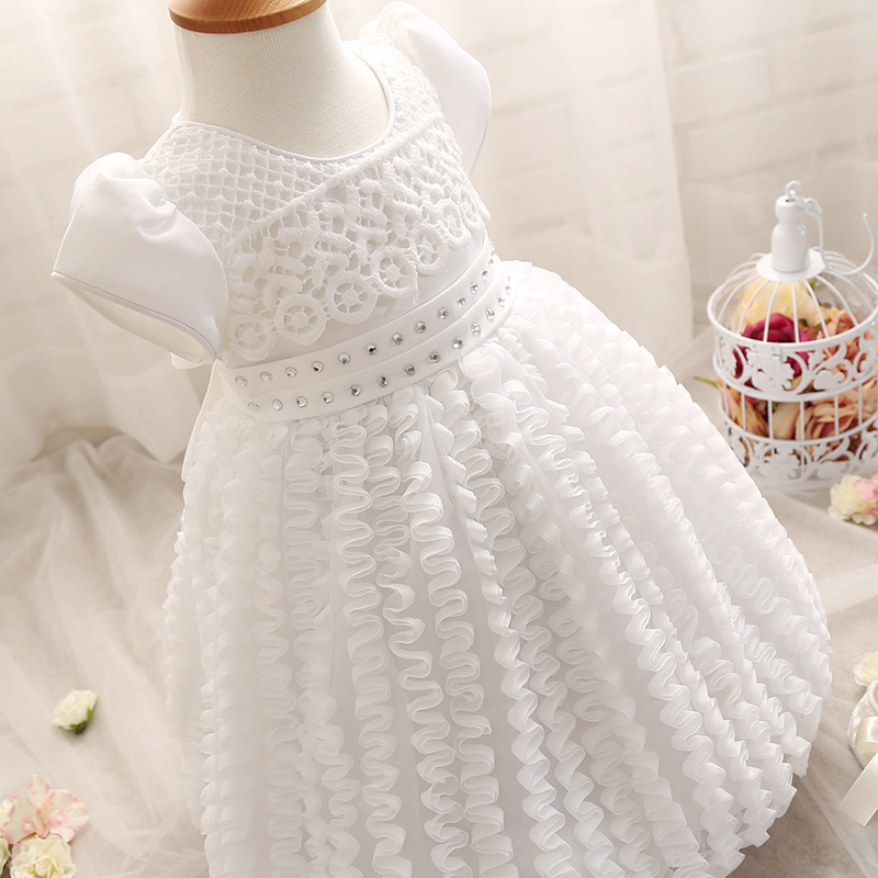 Glittery Sweet New Design Baby Baptism Dress Fashion Kids Hook ...