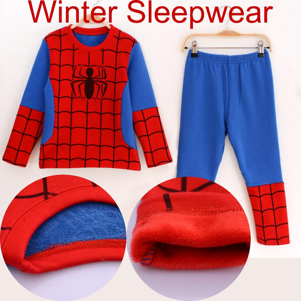 hot sell fashion winter long sleeve <font><b>spiderman</b></font> <font><b>costume</b></font> clothes boys sleepwear children <font><b>pajama</b></font> <font><b>set</b></font> <font><b>kids</b></font> cartoon clothing