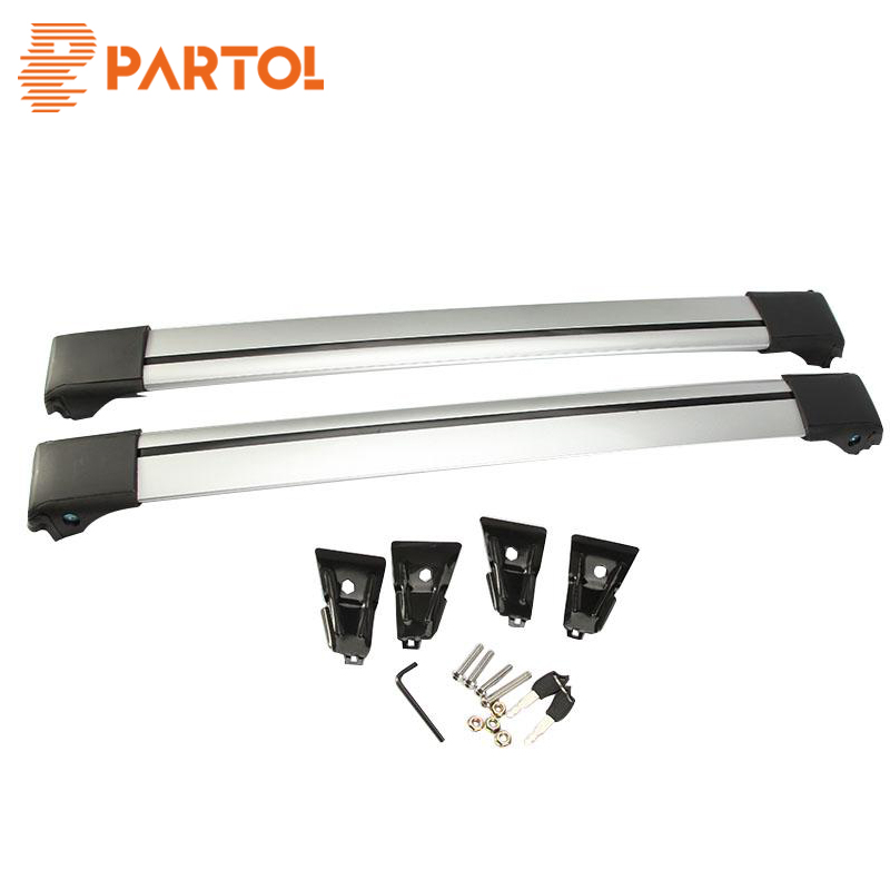 Partol Universal Car Roof Rack Crossbars Cross Bars Roof Rail Top Box Luggage Boat Carri ...