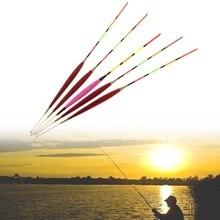 5 Pcs Galleggiante Da Pesca di Notte Luminuous Affrontare Bastone di Incandescenza Accessori In Legno Con Il Piombo
