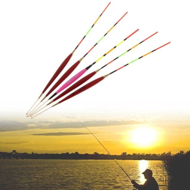 5 قطعة الصيد تعويم ليلة الإنارة معالجة توهج عصا الخشب الملحقات مع الرصاص