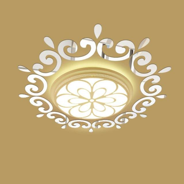 Silver and Golden Sun Wall Decal Sticker Acrylic 3D Wall Stickers ...