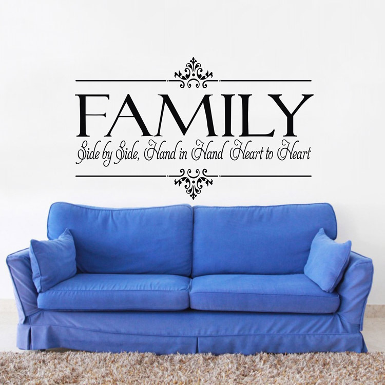 Large size 31 5 x22 family is heart to heart modern for Sofa quotes