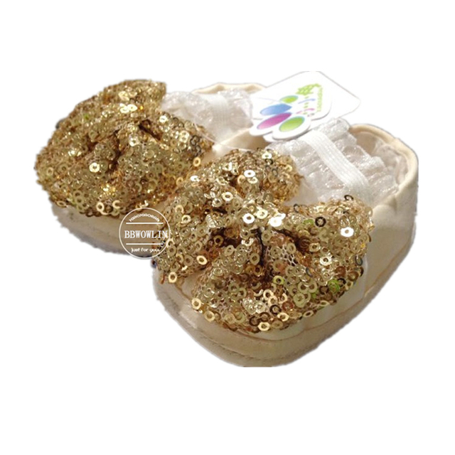 BBWOWLIN First Walkers Sequins Newborn Baby Girl Shoes for 1 Year Birthday Party Weding First Communion Dresses  90162
