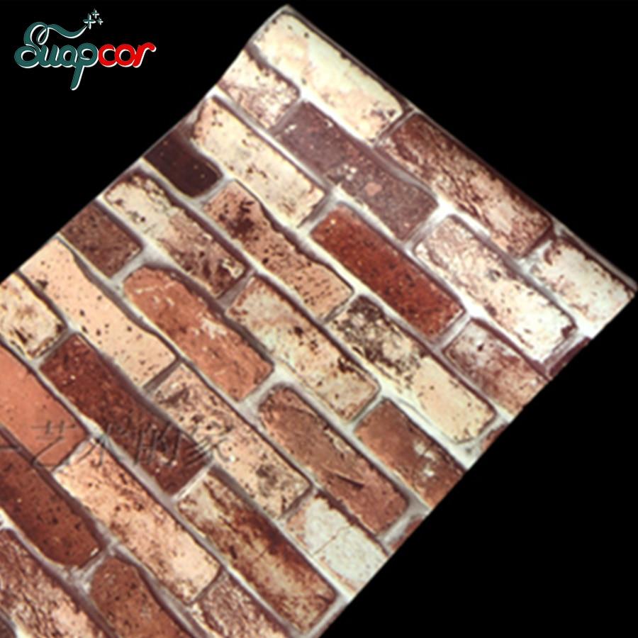 0.45x10 메터 자체 접착 벽 스티커 비닐 벽돌 돌 벽지 - 가정 장식