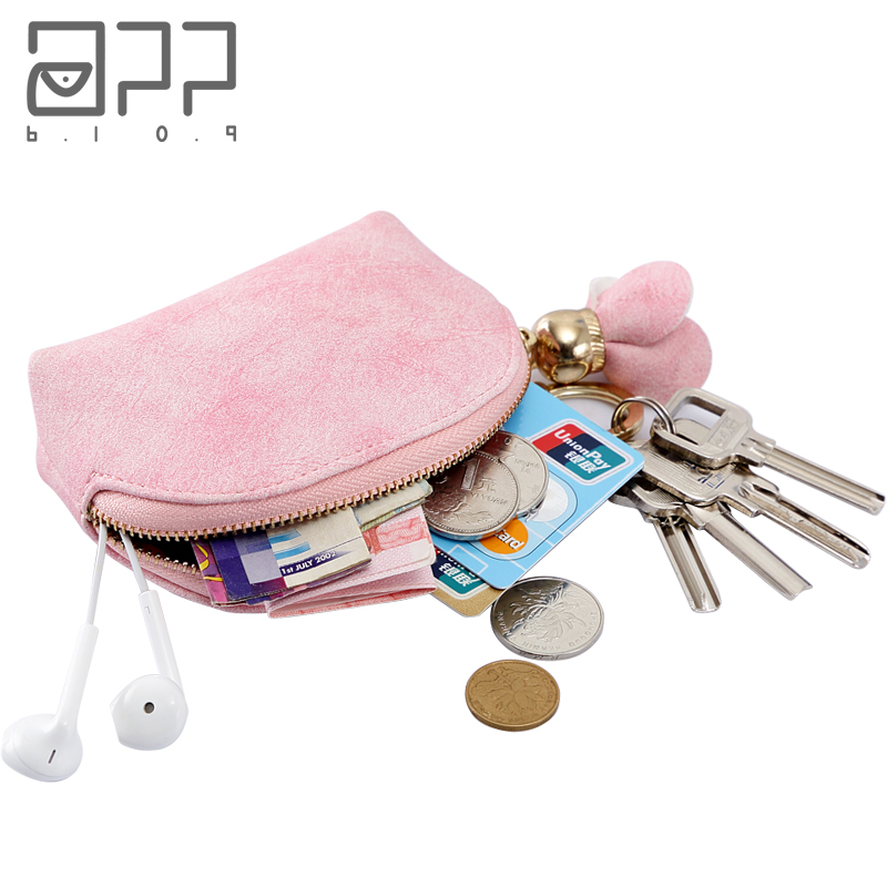 APP BLOG Brand Cute Women's Wallet Coin Purse New Arrival 2017 Fashion Flower Mini Small Leather Female Key Card Bag Keychain