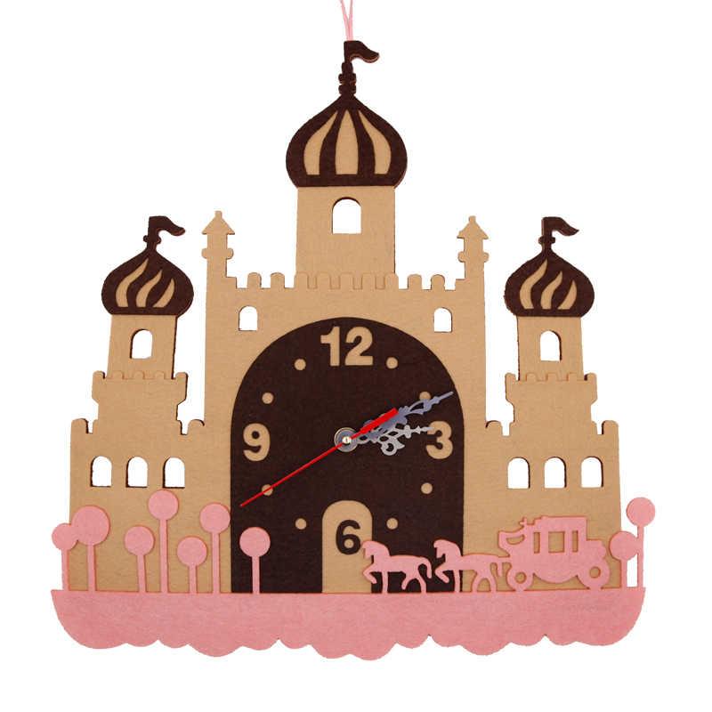 Часы замок ткань войлочный набор Нетканая ткань ремесло DIY Набор для шитья Войлок ручной работы материал DIY рукоделие принадлежности