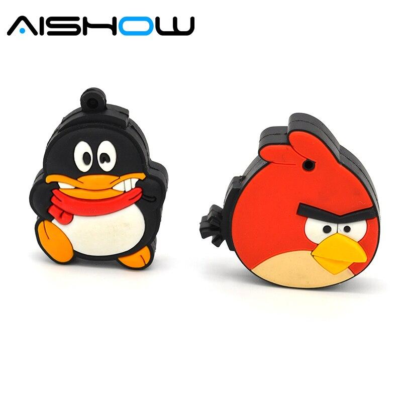 Pendrive cartoon animal parrot bird 4GB/8GB/16GB/32GB usb 2.0 flash drive flash memory stick pendrive Free shipping