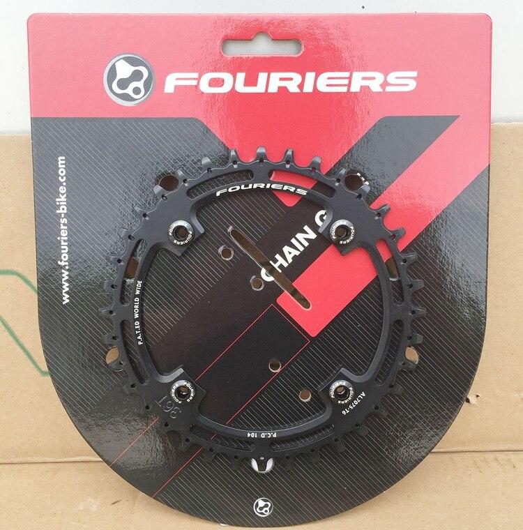 1pcs Black Fouriers Bicycle Bike Single Chain Ring P.C.D 104mm 30T/32T 4mm Bike Chainrings Narrow-wide Teeth