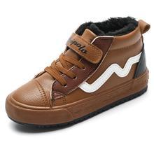 где купить Kids Boots Children Boots Leather Princess Martin Boots Fashion Plush Casual Child Shoe For Girls Boys Baby Shoes по лучшей цене