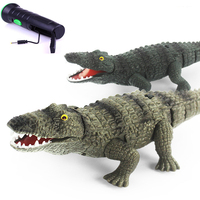Funny Novelty toys Electric Remote Control Crocodile Gags Practical Jokes Simulation Animals model Creative toy children kids