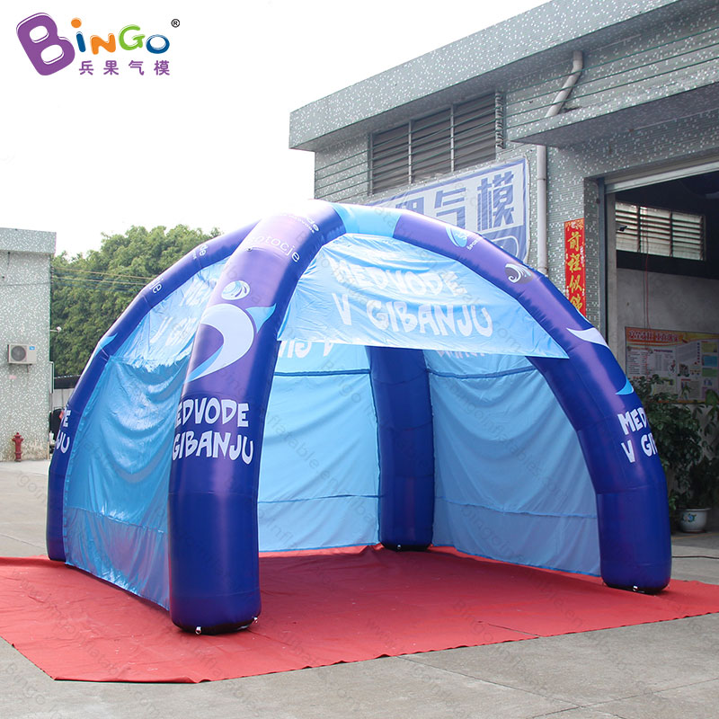 Free shipping 6X3m inflatable spider tent for advertising promotional canopy event tent for trade show blue marquee toy tent free shipping lighting large inflatable spider tent for party event exhibition rental