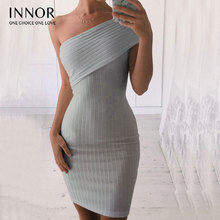 christmas Autumn off one shoulder winter sweater Dress Knitted lapel pullover Bodycon Mini Sexy Dress Women