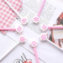 1 шт. Милая кошачья коготь Шариковая ручка для школы канцелярские принадлежности Школьные принадлежности милые кавайные милые красивые цвета офисные черные 0,5 мм