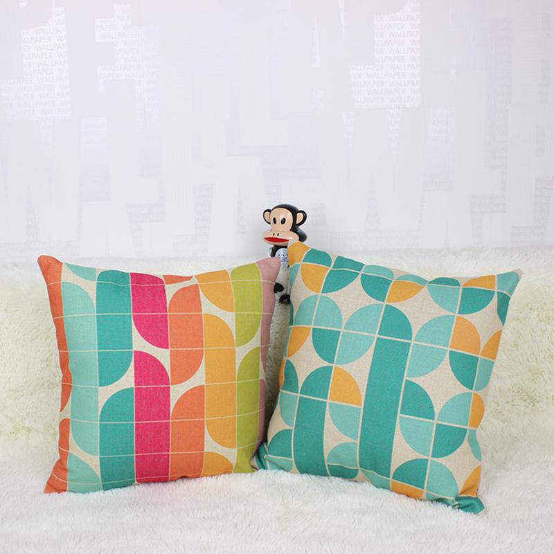 color psychdlique ligne pissage coussin dcoratifs pour la maison cojines canap tropical coussin imprim coton moins - Coussin Color Pas Cher
