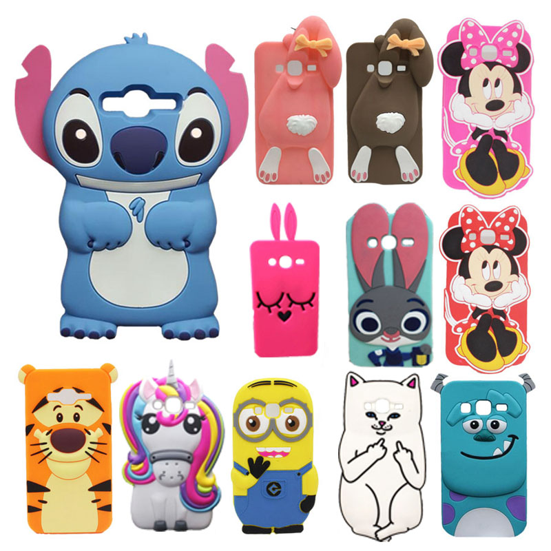 for samsung galaxy j3 j310 case cover for coque samsung j3 2015 3d unicorn cat case silicon for