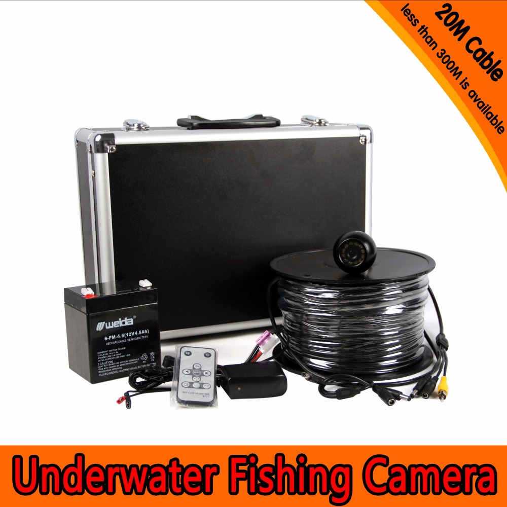 7 Inch Screen 20M Water-Proof  650TVL Fishing Camera AV Handheld Endoscope 3 5 inch 5 5mm 5x zoom play back av handheld endoscope water proof ip66