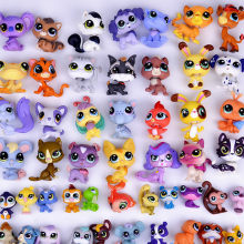 H 5 centímetros LPS Pet Shop Figuras de Pé Cão Collie Cocker Spaniel Cães Gatos Gatinho Gatinho Brinquedos Leão Ovelhas Kedi lol Brinquedo do pássaro(China)