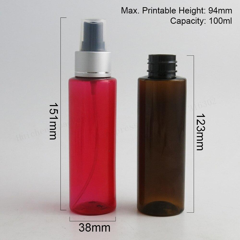 30x100 Ml Plastik Pet Botol Dispenser Dengan Silver Mist Sprayer 100 Bening Spray 100cc Amber Biru Hijau Putih Jelas Red Parfum Alat Penyemprot Di Isi Ulang Dari