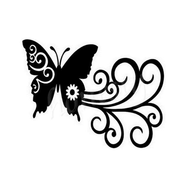 butterfly swirl wall home glass window door car sticker laptop auto